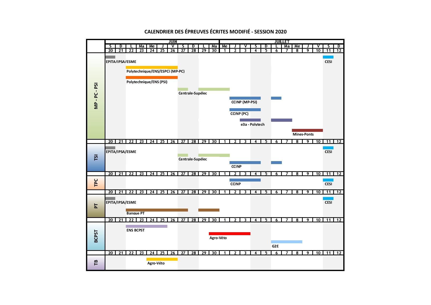 Calendrier Des Concours 2021 SCEI